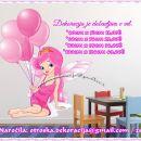 Otroške stenske nalepke , otroška dekoracija, nalepke za otroke vila z baloni
