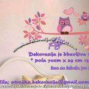 Otroške stenske nalepke , otroška dekoracija, nalepke za otroke sovice na vejici