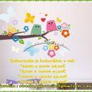 Otroške stenske nalepke , otroška dekoracija, nalepke za otroke sovici na vejici