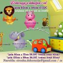 Otroške stenske nalepke , otroška dekoracija, nalepke za otroke ćivali