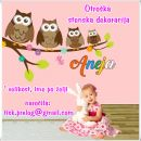 Otroške stenske nalepke , otroška dekoracija, nalepke za otroke sovice