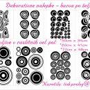 Dekorativne stenske nalepke, dekorativne nalepke, nalepke krogi
