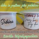 Emajlirane skodelice - motiv, napis po želji