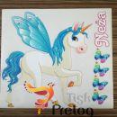 Otroška stenska dekoracija - samorogi,konji