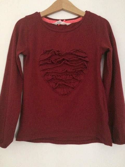 Rdeča majica 110-116, 2€