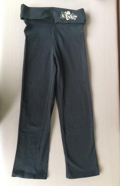Črne elastične hlače, 116, 2€