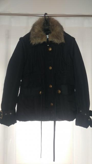 Črna bunda, M-L (38-40)