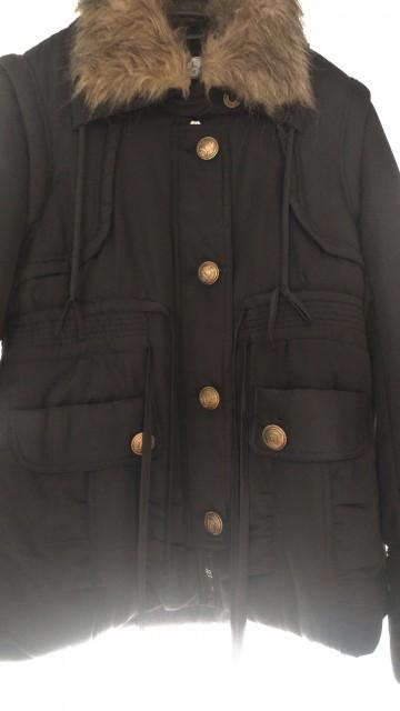 Črna bunda, M-L (38-40) - foto