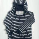 Črno-bel pulover, S-M (36-38)