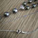 Srebrna verižica 925 z biseri