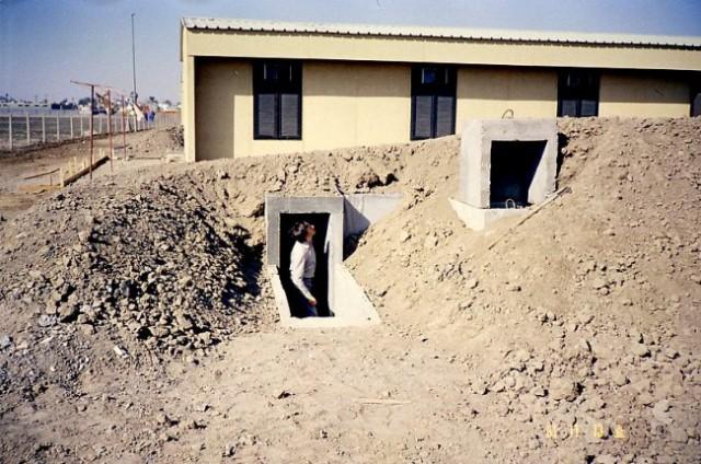 Zaradi vojne z Iranom so imela naselja zaklonišča
