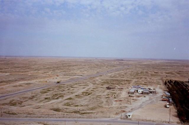Posnetek iz stolpa na iraško pokrajino