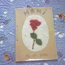 Voščilnica za mamo, vezana v knjigo