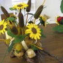 kvačkan aranžma-mini sončnice