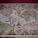 2000 puzzles 98cm x 76cm zemljevid sveta iz leta 1594