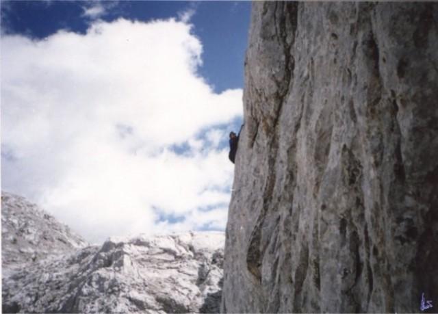 Prehodavci. Plezam nekje po skalah nad Prehodavci.