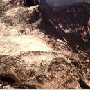 Prehodavci spodaj desno. Levo spodaj Rjavo jezero.