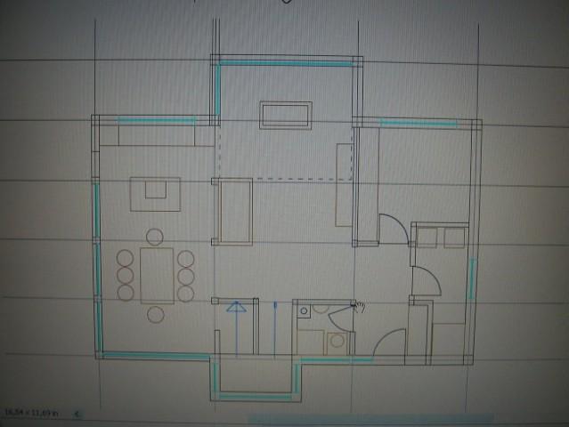 Ob vhodu desno - garderoba + utility, naprej delovna soba - kabinet...tudi razporeditev v