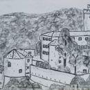 Grad Rihenberg -  OGLJE, 40x30cm