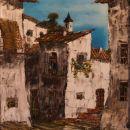 Primorska vas, OLJE,57X67 cm