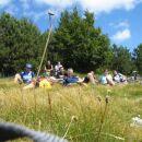 Na Srednjem vrhu : martinčkanje, uživanje v pogledih na okoliške hribe ter dolino..