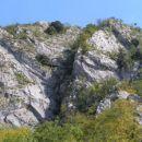tukaj poteka plezalna pot
