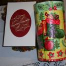 čestitka in embalaža za Mariko od petrovke   - božični swap  2006