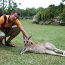 Erik in Kangaroo, po domace australski zajc! :)) Samo ma pa tako mehko kozo ku vata!! So p