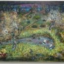 Brez naslova (izvir, deček z letalom), 2004, 70x90 cm - akril, olje na platnu