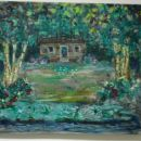 Brez naslova (hiša ob Mediji), 2003, 60x70 cm - akril, olje na platnu