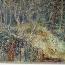 Brez naslova (zvončki), 2003, 100x120 cm - akril, olje na platnu