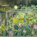 Brez naslova (brajda), 2004, 80x100 cm - akril, olje na platnu