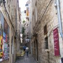 The narrow steets  of old Dubrovnik
