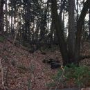 Vrh Debelega hriba, nekoč steza za vojaške potrebe (antropogeno)