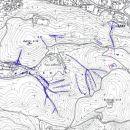 Zemljevid terenskih vaj z vrisanimi geomorfološkimi pojavi