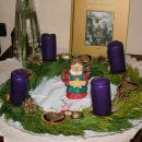 adventni venček na mizi 2009