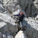 Začetek strme stopnje nad grebenom (možicem)