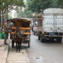 Cesta proti plezaliscu - vesela, da konjskih vpreg niso zamenjali zhongbani.