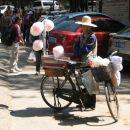 Sladkorno peno se da narediti tudi s kolesom:)