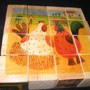 Tele kocke je treba še do konca pobrusit in nalepit slikice...