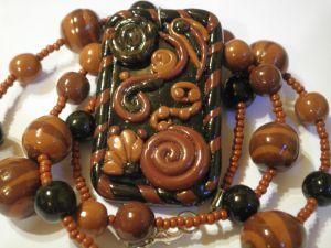 016 - Srednje dolga ogrlica z obeskom